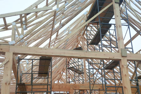 roof truss tops for a home
